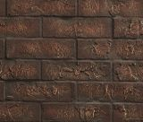 """42"""" Traditional Interior Brick Panel in Red for Meridian Fireplaces"""
