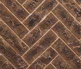 "42"" Herringbone Interior Brick Panel in Brown for Meridian Fireplaces"
