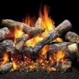 Monessen 30 Fireside Grand Oak Log Set w/3-Tier IPI Hearth Kit - NG