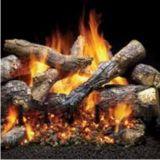 "24"" Outdoor Fireside Grand Oak Log Set w/IPI 3-Tier NG Hearth Kit"
