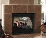 Twilight II Indoor/Outdoor NG Gas Fireplace w/Black Firescreen Front