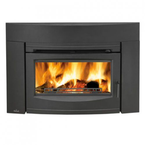 Napoleon EPI3C Wood Burning Contemporary Front Fireplace Insert, Black