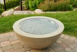 "30"" Round Grey Tempered Glass Burner Cover"