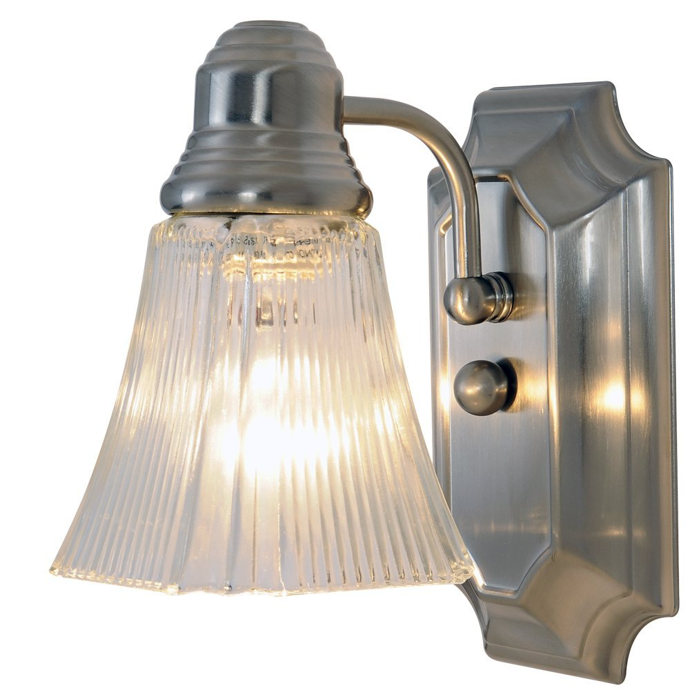 """Premier 2 Pack Of One Light Decorative 5.5"""" Vanity Fixture - Brushed Nickel at Sears.com"""