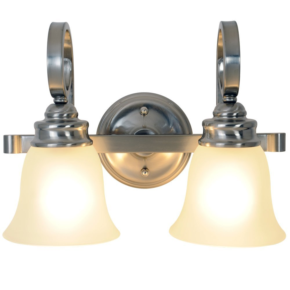 Premier Two Light 15.5 inch Vanity Fixture 617203 - Brushed Nickel at Sears.com