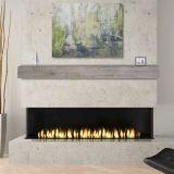 "Acacia 72"" Mantel Shelf with Weathered Gray Finish-Natural Distressing"