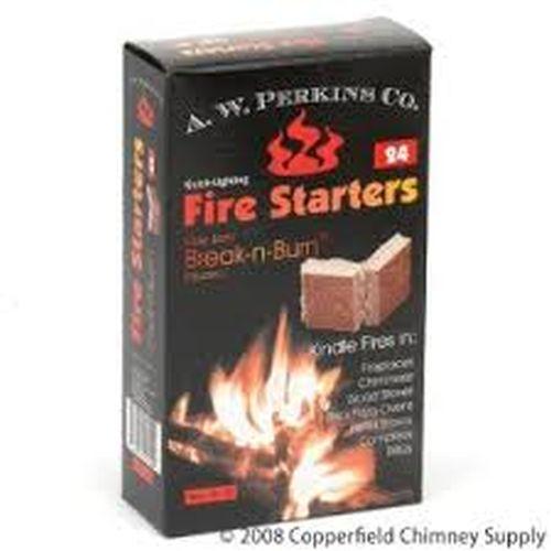 Break-N-Burn Fire Starter Squares, Aw Perkins, Box Of 24 Squares