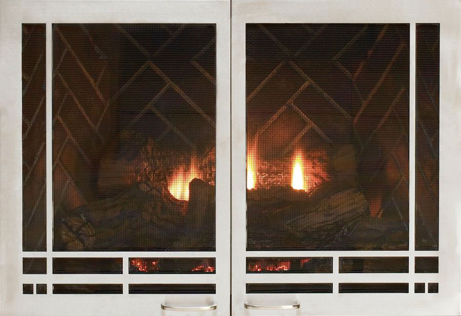 Empire Mission Rectangle Fireplace Doors DVD2MBL - Matte Black at Sears.com
