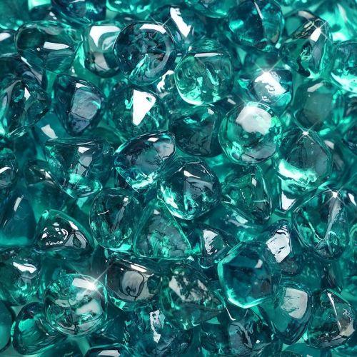 "10 lbs. Fire Diamond 1"" Azuria Blue Reflective Fire Glass"