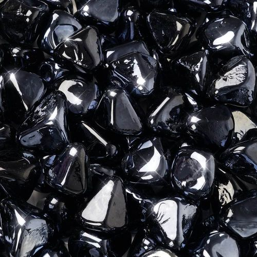 "10 lbs. Fire Diamond 1"" Black Reflective Fire Glass"