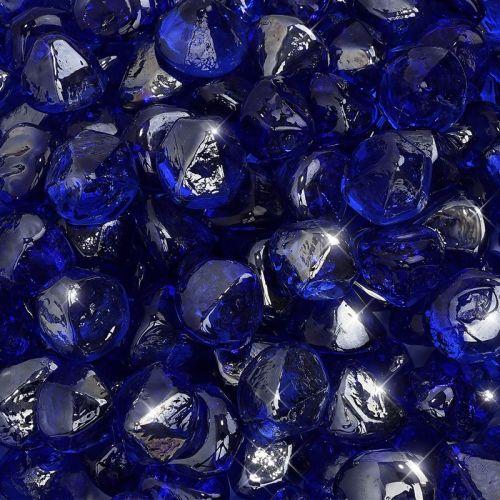 """10 lbs. Fire Diamond 1"""" Cobalt Reflective Fire Glass"""