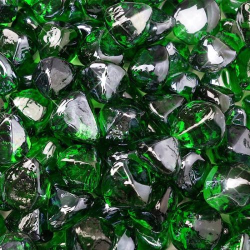 "10 lbs. Fire Diamond 1"" Emerald Reflective Fire Glass"