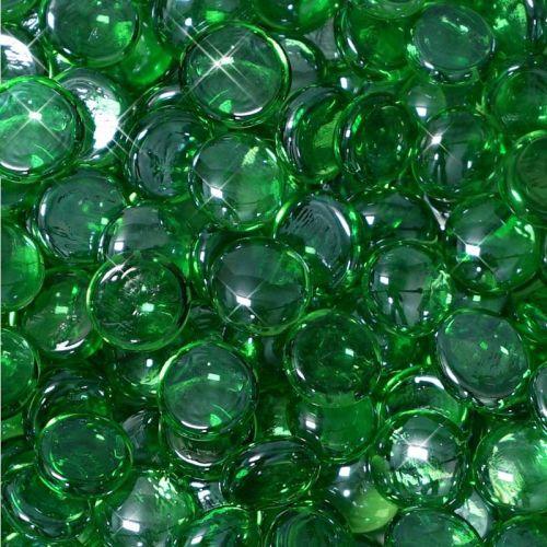 """10 lbs. Fire Drop 1/2"""" Emerald Reflective Fire Glass"""