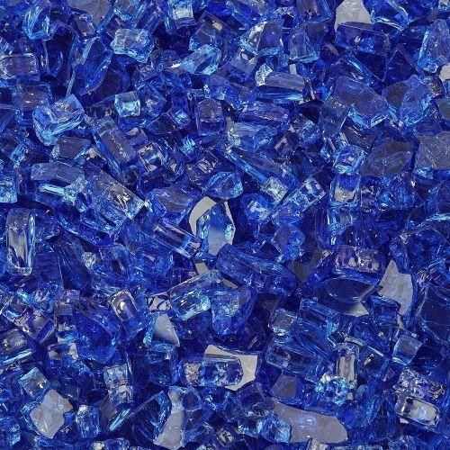 "10 lbs. Broken Style 1/4"" Cobalt Non-Reflective Fire Glass"