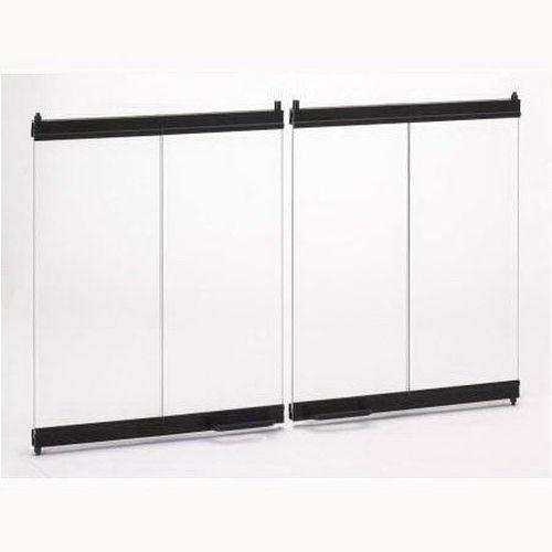 "Superior BDB42 Standard Bi-Fold Door in Black for 42"" Fireplace"