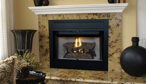 "Superior BRT4342 B-Vent 42"" Millivolt Gas Fireplace - LP"