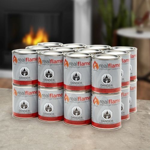 Real Flame Gel Fuel, Case of 24- 13 oz cans