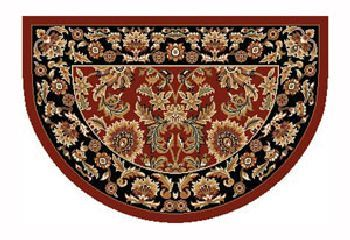 46'' x 31'' Red & Black Kashan Hearth Rug
