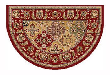 46'' x 31'' Red Kashan Hearth Rug