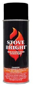 Stove Bright 1200 Degree High Temp Paint - Metallic Gray
