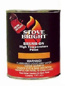 Stove Bright Goldenfire Brown Brush - On 1200 Degree Paint - 1 Pint