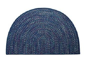 Tweed Braidmate 46'' x 31'' Half Round Navy