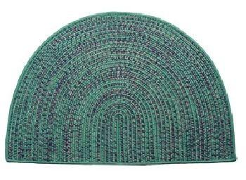Tweed Braidmate 46'' x 31'' Half Round Green