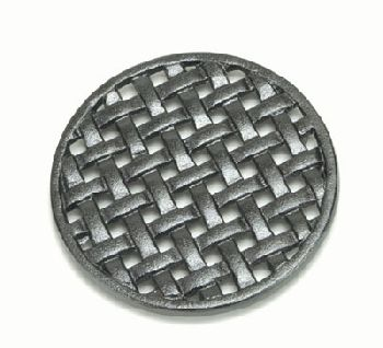 6-3/4'' Round Cast Iron Matte Black Trivet