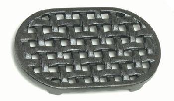 5-3/4'' x 9-1/4'' Oval Cast Iron Matte Black Trivet