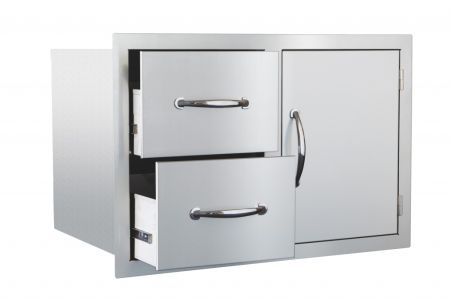 """33"""" North American Stainless Steel 2-Drawer & Access Door Combo"""