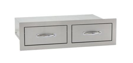 """Summerset 32"""" North American Stainless Steel Double Horizontal Drawer"""