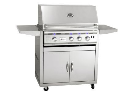 """Stainless Steel Gas Grill Cart for 32"""" TRL Series Grill - Cart Only"""