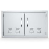 """Classic Series 36"""" Double Door Flush Mount with Vents"""