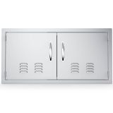 """Classic Series 42"""" Double Door Flush Mount with Vents"""