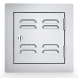 """Classic Series, 12"""" x 12"""" Vented Utility Access Door - Right Swing"""