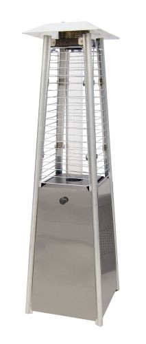 Contemporary Square Design Tabletop Patio Heater - Stainless Steel