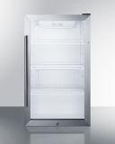 """19"""" Outdoor Glass Door Beverage Cooler with Black Cabinet"""