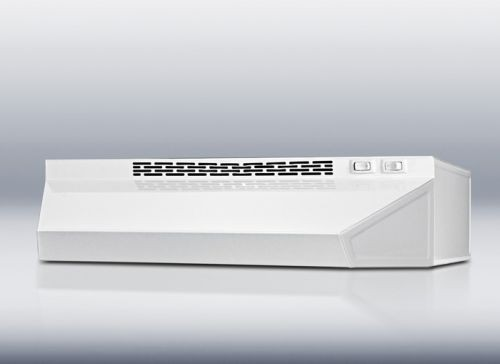 Convertible range hood 30 inch wide white finish