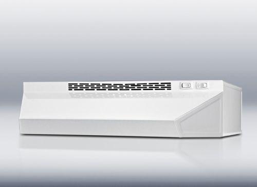 Convertible range hood 36 inch wide white finish
