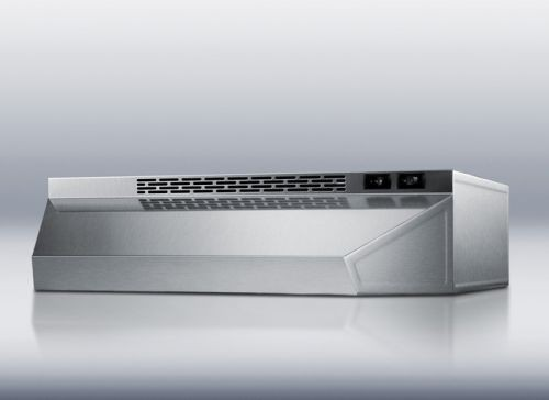 Ductless range hood 20 inch wide in stainless steel finish