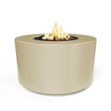 "42"" x 24"" Florence Electronic Ignition Fire Table in Vanilla - LP"