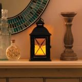 "10"" H Aversa Metal Lantern with LED Candle"