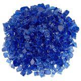 """American Fireglass 0.5"""" Cobalt Non-Reflective Fire Glass - 10 lbs."""