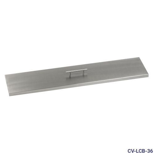 """Stainless Steel Cover for 36"""" x 6"""" Linear Drop-In Fire Pit Pan"""