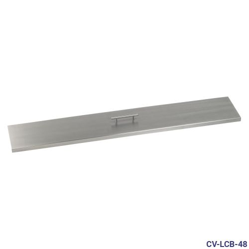 "Stainless Steel Cover for 48"" x 6"" Linear Drop-In Fire Pit Pan"