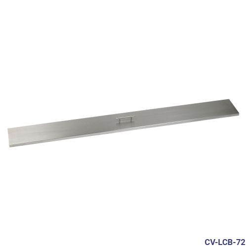 "Stainless Steel Cover for 72"" x 6"" Linear Drop-In Fire Pit Pan"