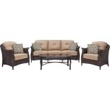 Hanover GRAMERCY4PC Gramercy 4-Piece Seating Set in Country Cork