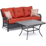 Hanover ORL2PCCT-BRY Orleans 2-Piece Patio Set in Autumn Berry