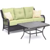 Hanover ORL2PCCT-GRN Orleans 2-Piece Patio Set in Avocado Green