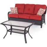 Hanover ORLEANS2PC-B-BRY Orleans 2-Piece Patio Set in Autumn Berry